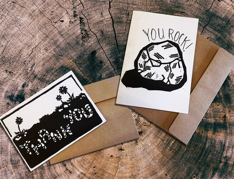 Relief Print Cards