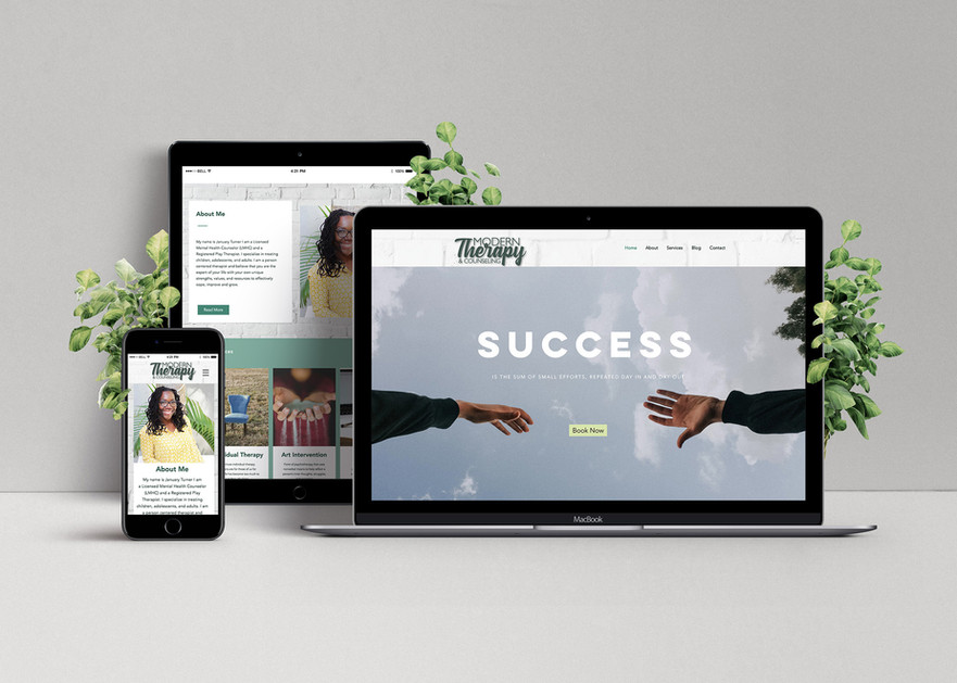 Modern Therapy Website created with Wix