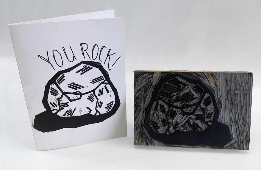 Linocut Thank You Cards by Sarah Mac