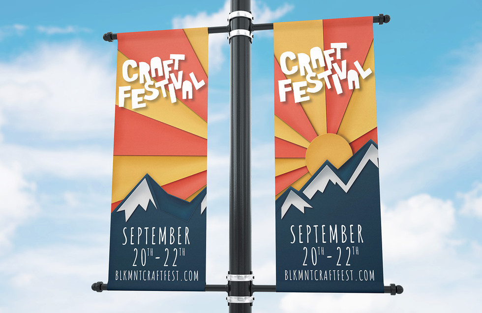 Black Mountain Craft Fest Signage