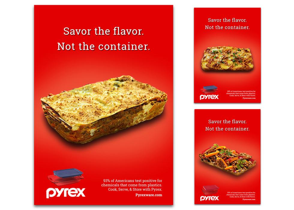 Three Pyrex Print Ads