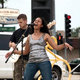 Singing for joy...