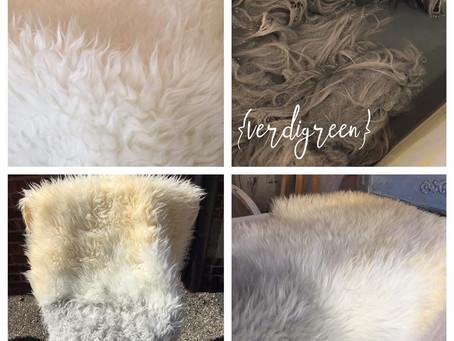 How to DIY (ahem, DYE) a faux Sheepskin rug with Chalk Paint – IKEA HACK