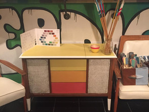 Modern Retro inspired paint project