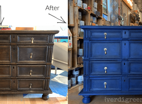 Before + After – Napoleonic Blue with a Black Wax finish