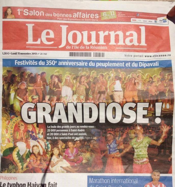 JIR 350ème anniversaire Réunion
