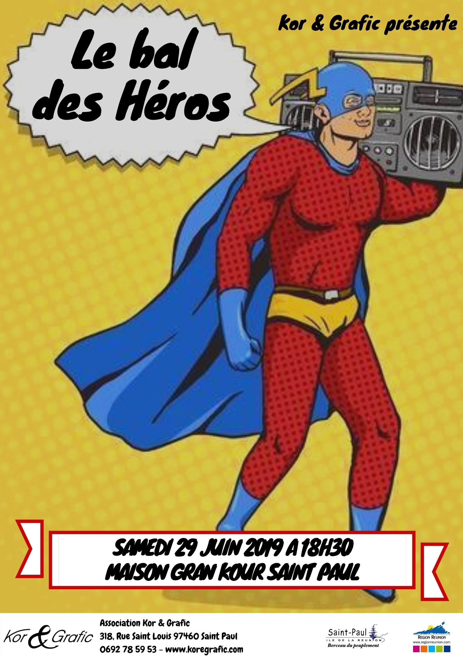 AFFICHE LE BAL DES HEROS
