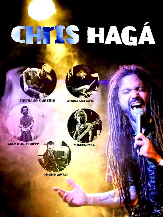 Chris Hagá en concert