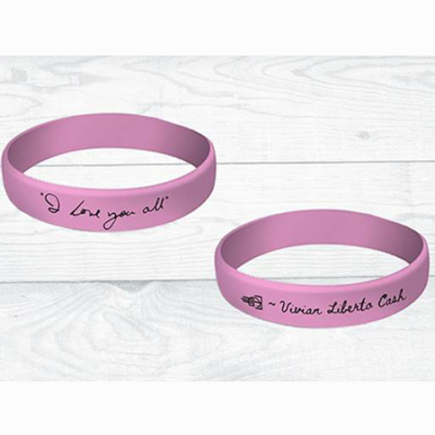 """I Love You All"" Wristband (Pink)"