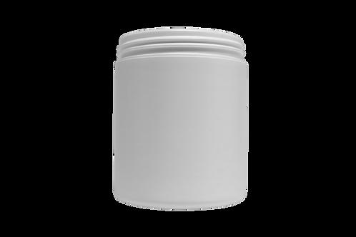 Pote Plástico Abaulado 250g Branco Sem Tampa (25 Unidades)
