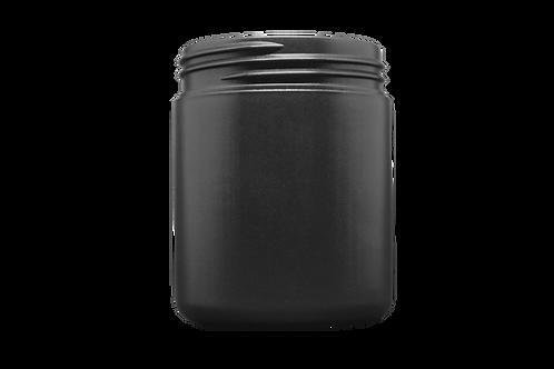 Pote Plástico Abaulado 100g Preto Sem Tampa (25 Unidades)