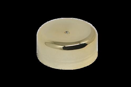 Tampa Metalizada Ouro C/ Disco 631 P/ Pote 33ml (25 Unidades)