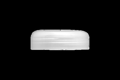 Tampa Plástica Natural P/ Pote Abaulado 100g (25 Unidades)