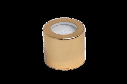 Tampa Luxo R18/410 Furada Ouro (25 Unidades)