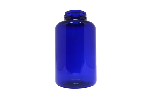 Pote PET 43-R500 500ML R43MM Azul Sem Tampa  (25 Unidades)