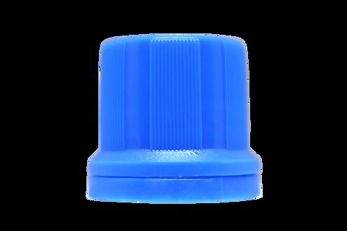 Tampa Din 18mm Azul Claro Furada (25 Unidades)