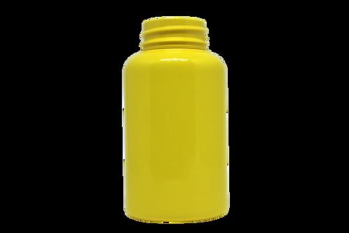 Frasco PET 38220 220ML R38MM Amarelo Opaco Sem Tampa (25 Unidades)