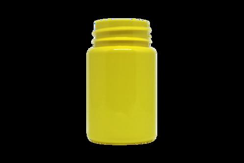 Frasco PET 38080 80ML R38MM Amarelo Opaco Sem Tampa (25 Unidades)