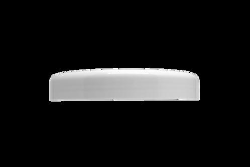 Tampa Plástica Branca P/ Pote Abaulado 1Kg (25 Unidades)