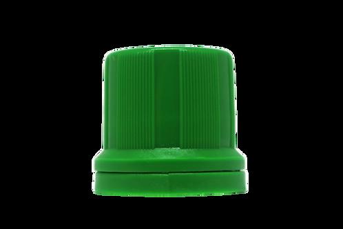 Tampa Din 18mm Verde Folha Furada (25 Unidades)