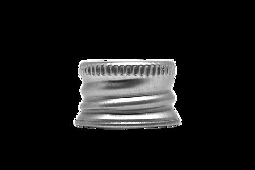 Tampa Alumínio Furada R18 Prata (25 Unidades)
