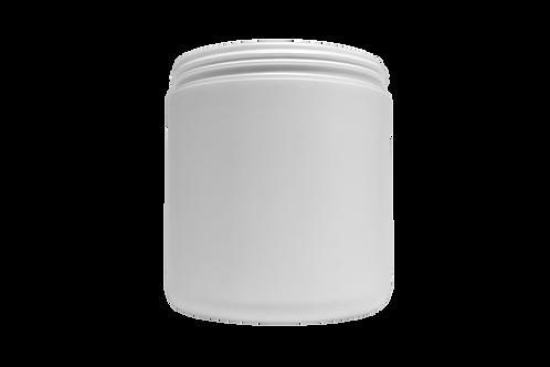 Pote Plástico Abaulado 500g Branco (25 Unidades)