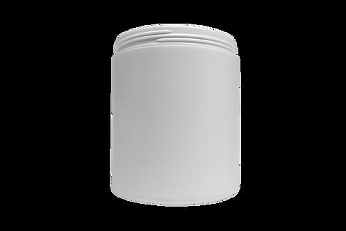 Pote Plástico Abaulado 1kg Branco (25 Unidades)
