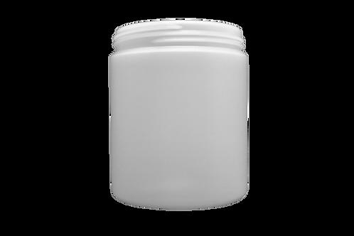 Pote Plástico Abaulado 250g Natural Sem Tampa (25 Unidades)