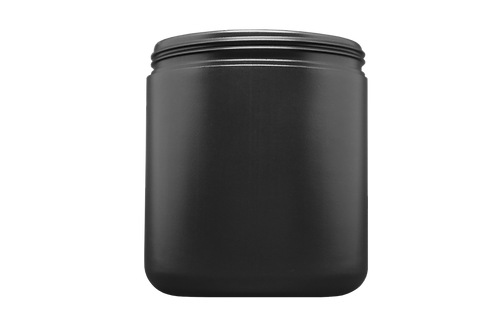 Pote Plástico Abaulado 500g Preto (25 Unidades)