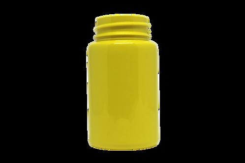 Frasco PET 38100 100ML R38MM Amarelo Opaco Sem Tampa (25 Unidades)