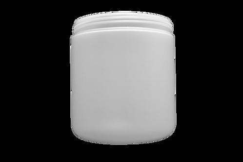 Pote Plástico Abaulado 500g Natural (25 Unidades)