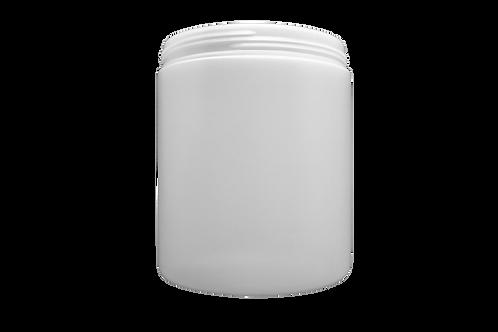 Pote Plástico Abaulado 1kg Natural (25 Unidades)