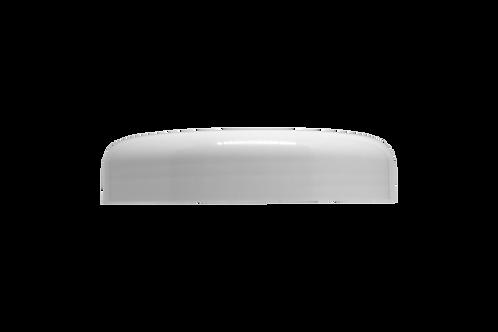 Tampa Plástica Branca P/ Pote Abaulado 500g (25 Unidades)