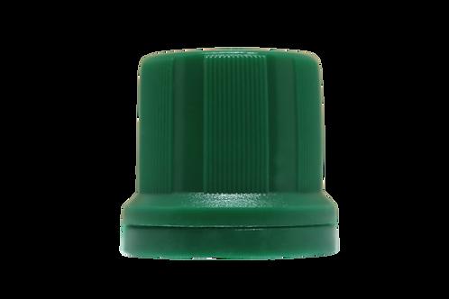 Tampa Din 18mm Verde Escuro Furada (25 Unidades)