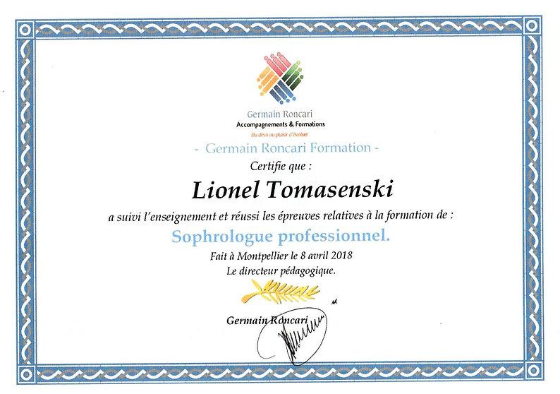 Certification Sophrologue