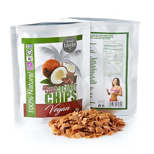 Кокосовые чипсы шоколадные   40гр.