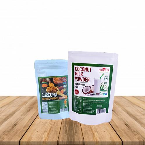 Набор Сухое кокосовое молоко и Куркума с 5% куркумина 100гр