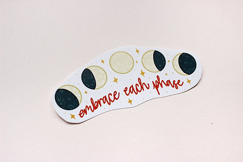 Embrace Each Phase Lunar Cycle Sticker