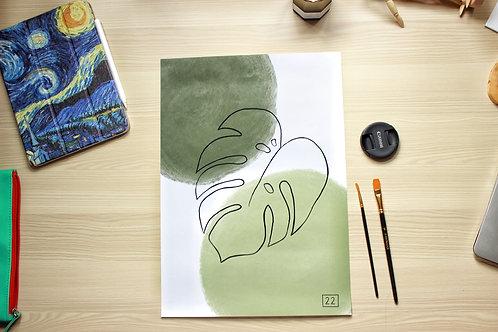 """""""MINIMAL LEAF"""" Print"""