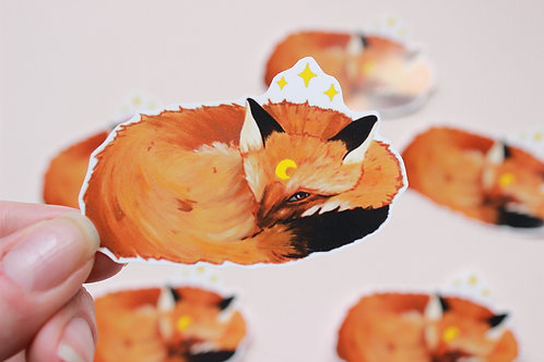 Sleepy Fox Sticker