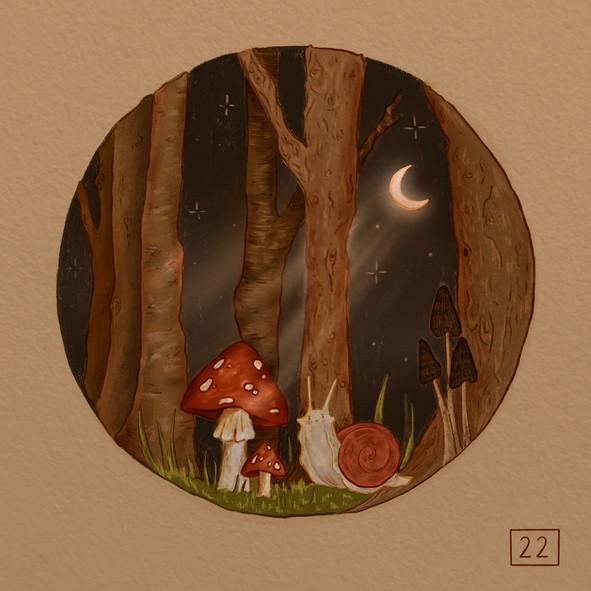 Mushroom illustration using procreate