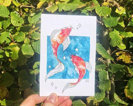 """KOI FISH"" Print"