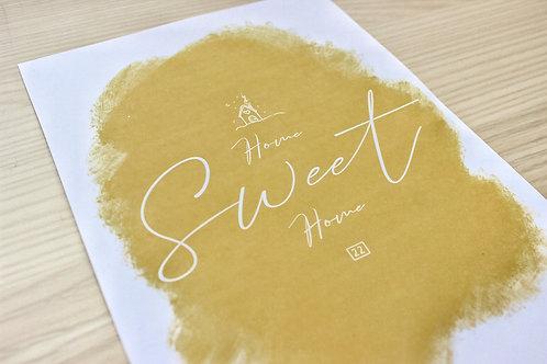 """MINIMAL HOME SWEET HOME"" Print"