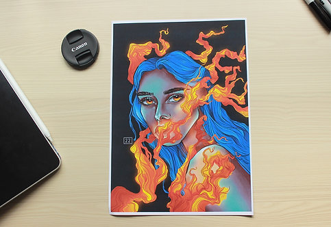 """FIRE IN HER EYES"" Print"