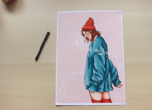 """SOFT BREEZE"" Print"