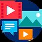 ícone campanha digital conteúdo