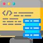 ícone código computador site