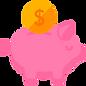 ícone porquinho poupança dinheiro