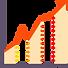 ícone gráfico de crescimento