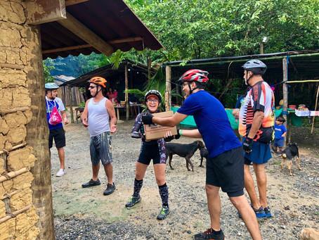 Pedal Solidário na Tribo Indígena Paranapuã